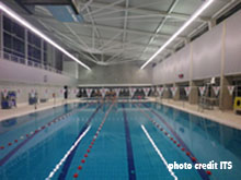 sports facility wall absorbing lining swimming pool